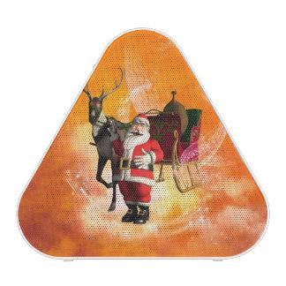 Papá Noel divertido con el reno en el cielo Altavoz