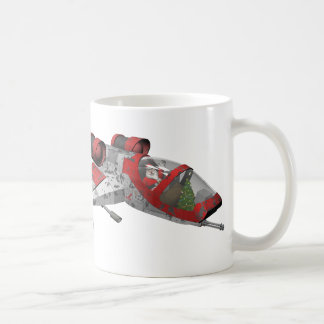 Papá Noel divertido del espacio exterior Taza De Café
