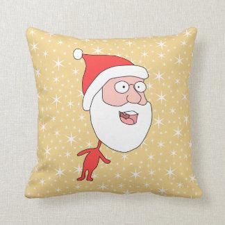 Papá Noel divertido en modelo de estrella del col Almohadas