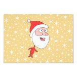 Papá Noel divertido, en modelo de estrella del Invitación 8,9 X 12,7 Cm