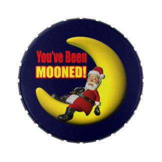 Papá Noel divertido Frascos De Caramelos