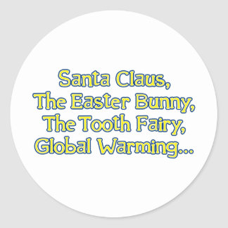 Papá Noel, el conejito de pascua, el ratoncito Pegatina Redonda
