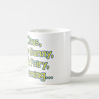 Papá Noel, el conejito de pascua, el ratoncito Pér Tazas De Café