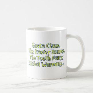 Papá Noel, el conejito de pascua, el ratoncito Pér Taza De Café
