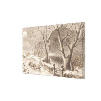 Papá Noel el Nochebuena Impresión En Lienzo
