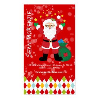 Papá Noel * elija el color de fondo Tarjetas De Visita