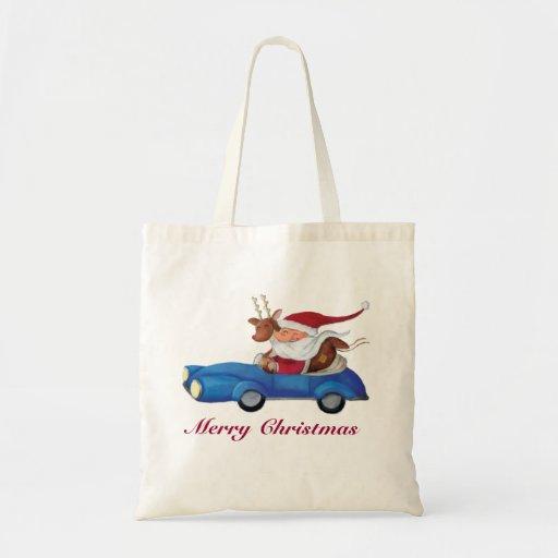 Papá Noel en Cabrio Bolsa Tela Barata