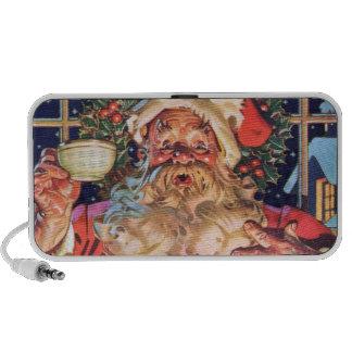 Papá Noel en casa Portátil Altavoces