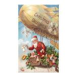 Papá Noel en dirigible Impresión En Lienzo Estirada