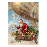 Papá Noel en dirigible Tarjeta De Negocio