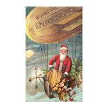 Papá Noel en el dirigible 3 Impresión De Lienzo