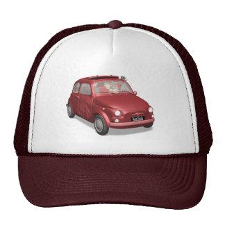 Papá Noel en Fiat 500 Gorras