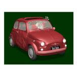 Papá Noel en Fiat 500 Tarjetas Postales