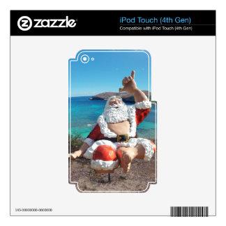 Papá Noel en Hawaii iPod Touch 4G Skins