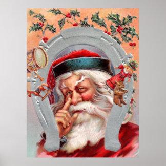Papá Noel en herradura Impresiones