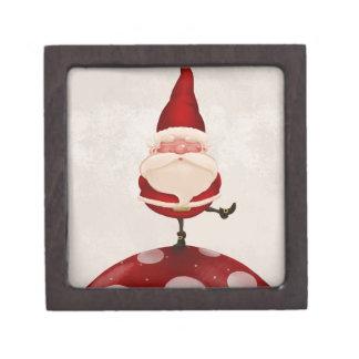 Papá Noel en hongo Cajas De Regalo De Calidad