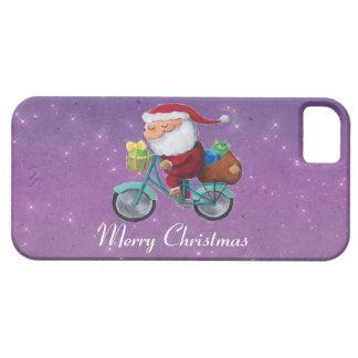 Papá Noel en la bicicleta iPhone 5 Case-Mate Cobertura