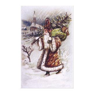 Papá Noel en la manera Impresión En Lienzo