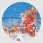 Papá Noel en la noche antes del navidad Pegatinas