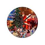 Papá Noel en la noche antes del navidad Reloj