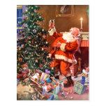 Papá Noel en la noche antes del navidad Tarjeta Postal