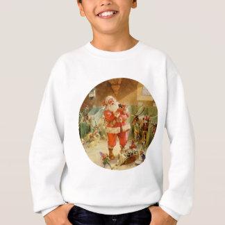 Papá Noel en los establos del reno de Polo Norte