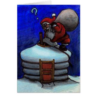 Papá Noel en Mongolia Tarjeta De Felicitación