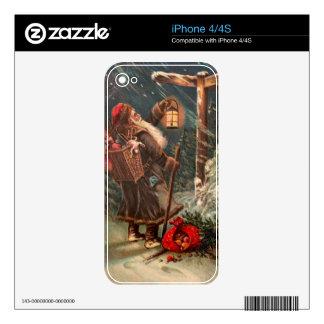 Papá Noel en su manera 2 Calcomanías Para El iPhone 4