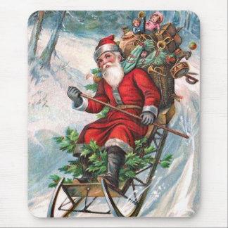 Papá Noel en trineo Mousepad