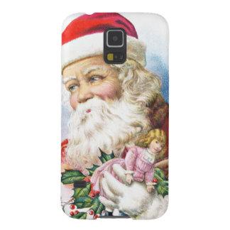 Papá Noel encantador con los juguetes Funda Para Galaxy S5