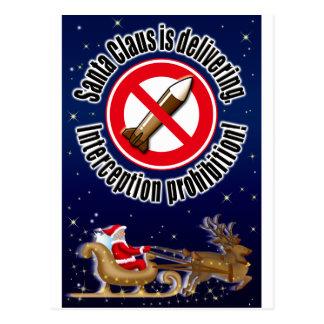 Papá Noel está entregando Tarjetas Postales