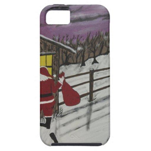 Papá Noel está mirando iPhone 5 Cobertura
