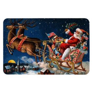 Papá Noel está viniendo a la ciudad Imán Flexible