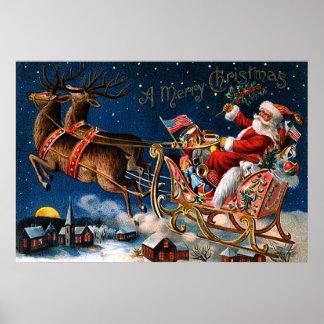 Papá Noel está viniendo a la ciudad Póster