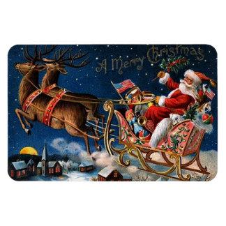 Papá Noel está viniendo a la ciudad Rectangle Magnet