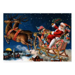 Papá Noel está viniendo a la ciudad Tarjetas De Visita Grandes