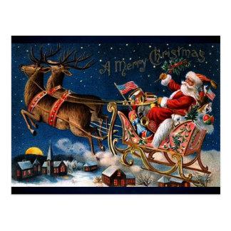 Papá Noel está viniendo a la ciudad Tarjetas Postales
