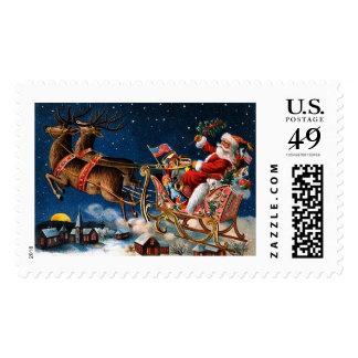 Papá Noel está viniendo a la ciudad Timbres Postales