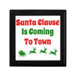 Papá Noel está viniendo al navidad de la ciudad Cajas De Joyas