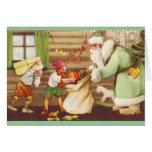Papá Noel estonio + Tarjeta de Navidad de los duen