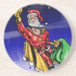 Papá Noel estupendo Posavasos Personalizados