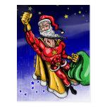 Papá Noel estupendo Postal