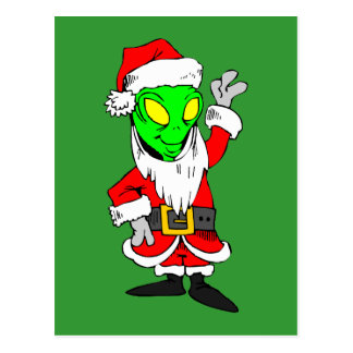 Papá Noel extranjero Postal