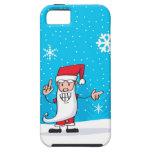 Papá Noel feliz iPhone 5 Case-Mate Cárcasa