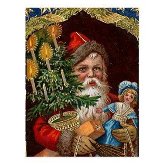 """Papá Noel feliz "" Postal"