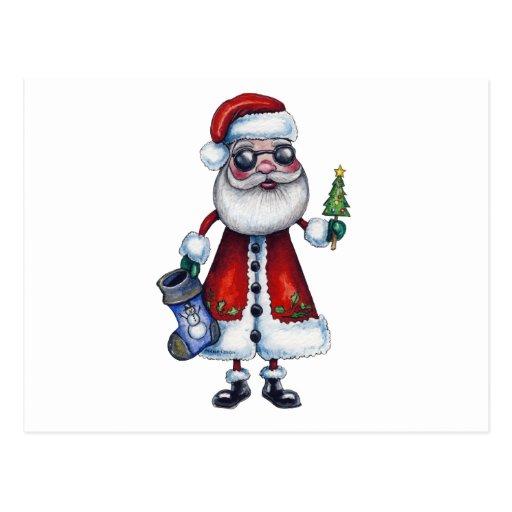 Papá Noel fresco Tarjetas Postales