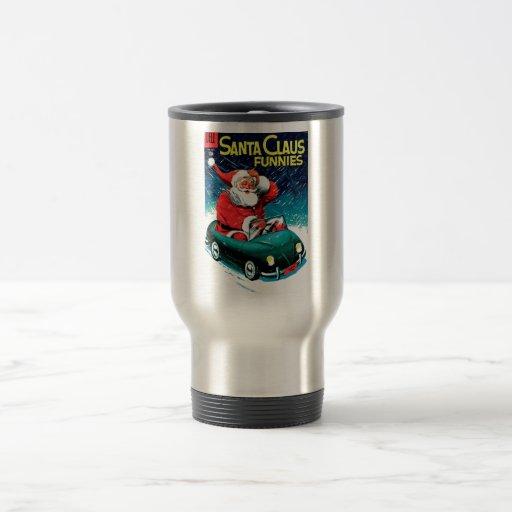 Papá Noel Funnies - coche del juguete Taza De Café