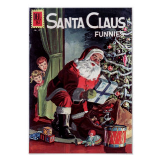 Papá Noel Funnies Póster