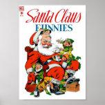 Papá Noel Funnies - preparación del duende Poster