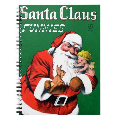 Papá Noel Funnies - querube Libreta
